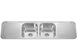 Double Bowl With Double Drainer Sink SBCK138